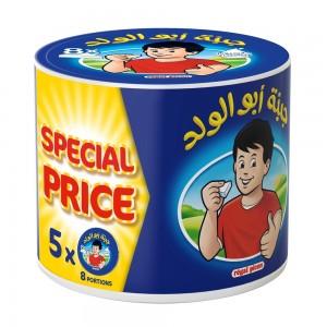 Jibnet Abu ElWalad Cheese Triangles, 5 packs x 8 portions, 40 portions, 600g