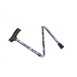 Essential Medical Supply Spring Garden Collection Demi Folding Cane in