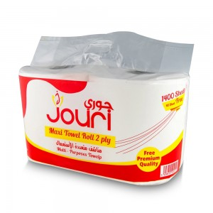 Jouri Maxi Towel Roll - 2 Rolls, 1400 Sheets