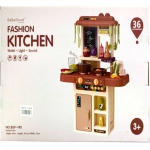Beibe Good Toys Fashion Kitchen Set 36 pieces with lights and sound