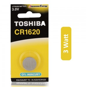 Toshiba CR1620 3V Lithium Coin Cell Battery - 3 Watt