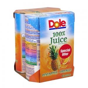 Dole Pineapple&Orange Juice 4x250ml
