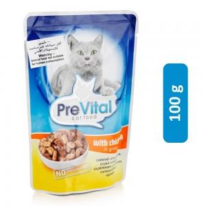 Prevital Chicken Gravy Cat Food - 100 g