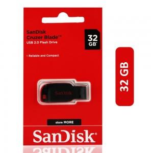 Scandisk Cruzer Blade USB 2.0 Flash Drive - 32 GB