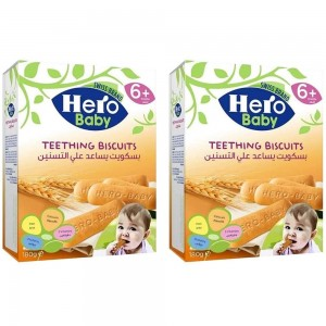 Hero Baby Biscuits Pack - 2 x 180 gm