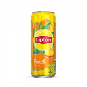 Lipton Ice Tea Peach, Non-carbonated Iced Tea Drink, Can, 320 ml