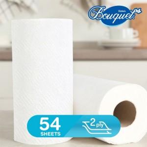 Sanita Bouquet Kitchen Towel (3+1 Free) Rolls 54 Sheets