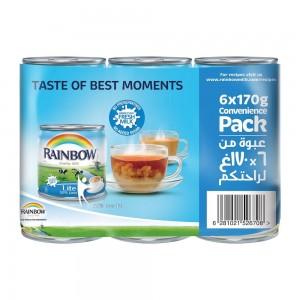 Rainbow Lite Evaporated Milk (Pack of 6)