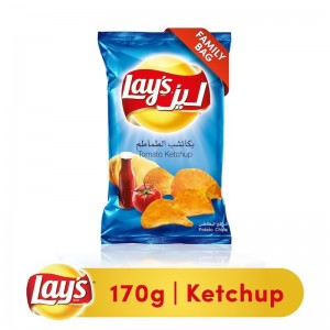 Lays Ketchup Potato Chips, 170g