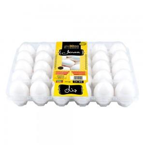 Jenan White Eggs Tray - Medium, 30 Pieces