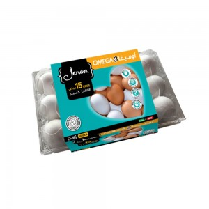 Jenan Omega 3 Eggs - Large, 15 Pieces