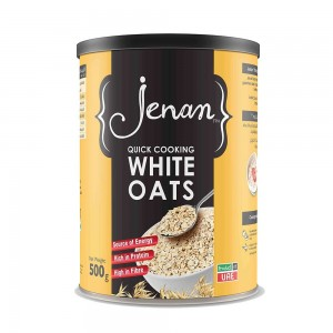 Jenan Quick Cooking White Oats - 500 gm
