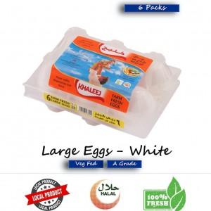 Khaleej, Fresh Eggs, White, Large 6's