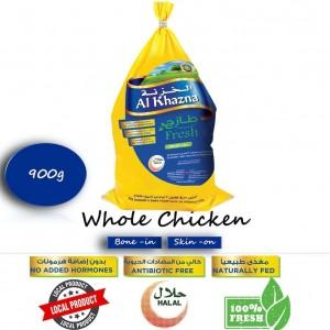 Al Khazna, Fresh Chicken, Whole, Bag, 900g