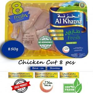 Al Khazna, Fresh Chicken, Portion, Trays, 850g