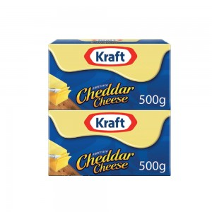 Kraft Cheddar Cheese Blocks 2x500gm