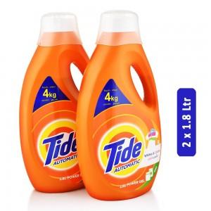 Tide Whites & Colors Power Gel Liquid Laundry Detergent - 2 x 1.8 Ltr