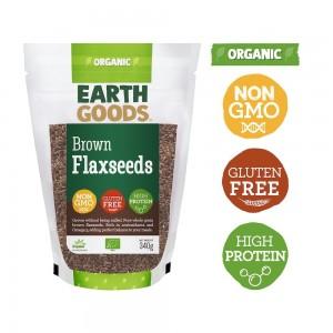 Earth Goods, Organic Brown Flaxseeds 340g