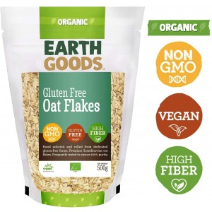 Earth Goods, Organic GF Oat Flakes 500g