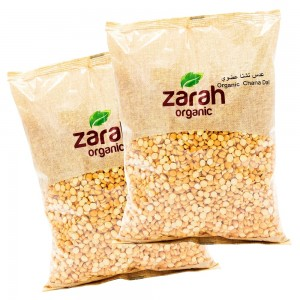 Zarah Organic Channa Dal 1kg Twin Pack