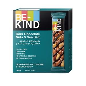 Be-Kind Dark Choco Nuts & Sea salt 3 x 40 gm