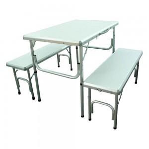Camp Mate Aluminium Table W/2Pc Bench