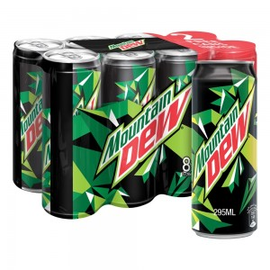 Mountain Dew, Carbonated Soft Drink, Cans, 295 ml x 8