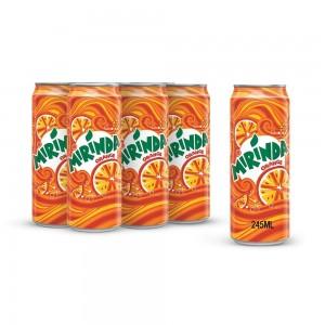 Mirinda Orange, Carbonated Soft Drink, Cans, 245 ml x 6
