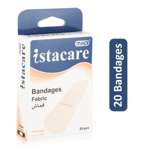 Max Istacare Fabric Antiseptic Bandages - 20 Bandages
