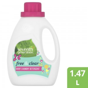 Seventh Generation Plant-based Concentrated Baby Fabric Detergent Liquid Unscented, 1.47L