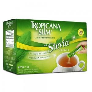 Tropicana Slim Calorie-Free Sweetener with Stevia - 50 Sticks
