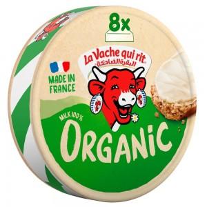 La Vache qui rit Organic Spreadable Cheese Triangles, 8 Portions, 128g