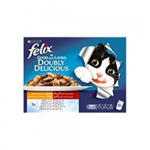 Purina Felix Sensations Jellies Meat Selection 100g Sachet (Pack Of 12)
