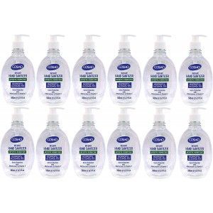 Cosmo Instant Hand Sanitizer Antiseptic/Disinfectant 500ML GEL PACK OF 12, IPA 70%, Moisturizers, Vitamin E