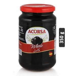 Acorsa Black Whole Olives - 350 g