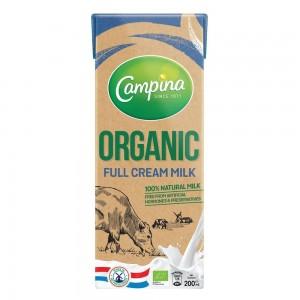 Campina Organic Full Cream Milk - 200 ml