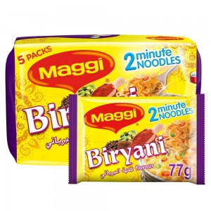 Maggi 2 Minutes Noodles Biryani, 77g x 5