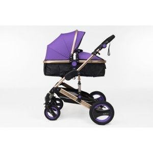 Belecoo 6 Purple - 3 in 1 Classic Pram