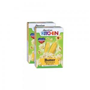 American Kitchen Butter Microwave Popcorn - 2x85gm