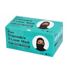 50 pcs Disposable Face Mask Black