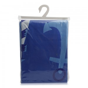 Electra Polyester Shower Curtain - Blue