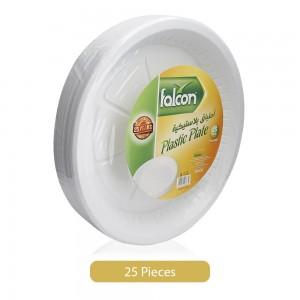 Falcon-22-cm-Round-Plastic-Plate-White-25-Pieces_Hero