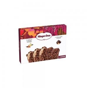 Haagen-Dazs Ice cream Stick 3xVanilla&Caramel&Almond + 2xChoc Choc&Almond - 5x40ml