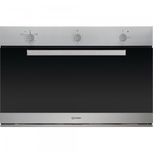 Indesit 90cm Full Gas Grill Oven, 95L Easy to clean enamel,Inox