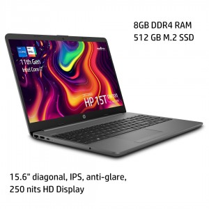 "HP Notebook 15T-DW300 - 15.6"" HD Display, Intel Core? i7-1165G7, 8GB RAM, 512GB SSD, Windows 10 [1A3Y4AV] - Gray"