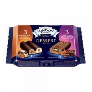 London Dairy Dessert Bars Multi Pack 3x75ml + 3x65ml