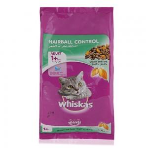 Mars Whiskas Pouch Chicken & Tuna Hairball Control Cat Food - 1.1 kg