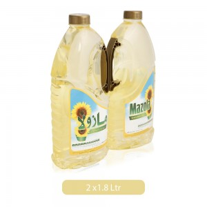 Mazola Sunflower Oil 2x1.8 Ltr