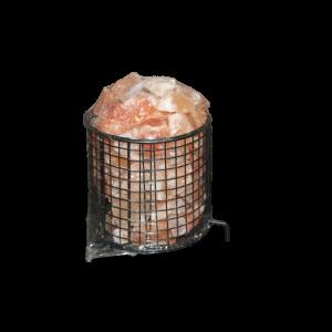 HIMALAYAN SALT - Iron Basket with Salt Chunk P-2389