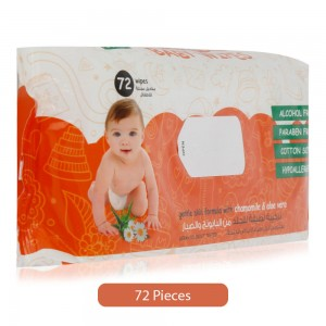 Palmer's Baby Wipes with Chamomile & Aloe Vera - 72 Pieces